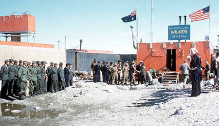 Australia takes over Wilkes 7 February 1959. AAD photograph by A.  Campbell-Drury