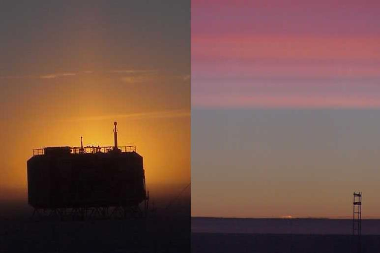 Sunset at the South Pole